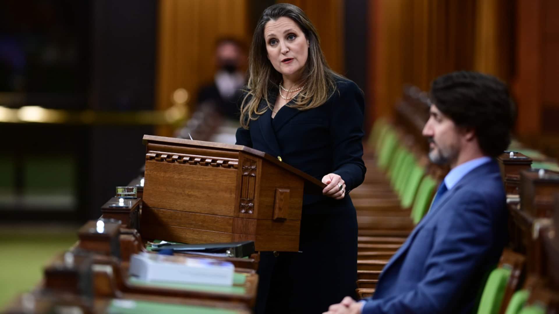 Trudeau, Freeland discuss the budget